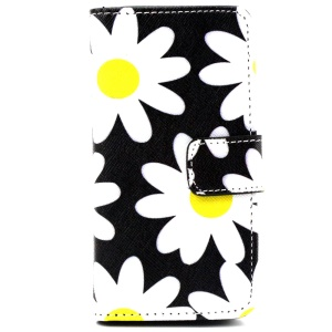 Wallet iPhone 5 5s Cover with Stand - Daisy