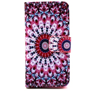 Card Holder iPhone 5 5s Cover with Stand - Kaleidoscope Pattern