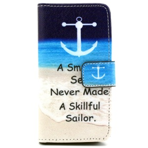 Wallet iPhone 5 5s Shell with Stand - Beach and Quote