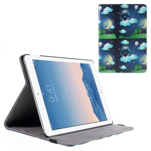 Owl and Cloud Leather Smart Cover for iPad Air 2 with Stand