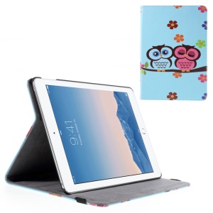 Adorable Owls and Flowers Smart Leather Stand Cover for iPad Air 2
