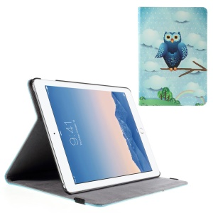 Owl and Rainbow Smart Leather Stand Case for iPad Air 2