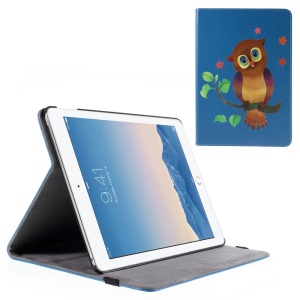 Owl and Stars Leather Smart Cover Case for iPad Air 2 with Stand