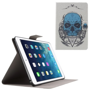 Flip Sweet Fragrance Stand Leather Case for iPad Mini 3 / 2 / 1 - Cool Skull
