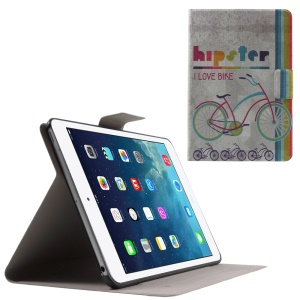 Flip Sweet Fragrance Stand Leather Cover for iPad Mini 3 / 2 / 1 - Hipster I Love Bike