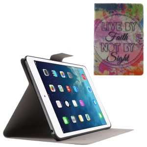 Flip Sweet Fragrance Stand Leather Shell for iPad Mini 3 / 2 / 1 - Live by Faith Not by Sight