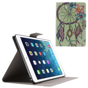 Flip Sweet Fragrance Stand Leather Case for iPad Mini 3 / 2 / 1 - Flower Feather Campanula