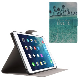 Flip Sweet Fragrance Stand Leather Cover for iPad Mini 3 / 2 / 1 - Life Is Short Live It