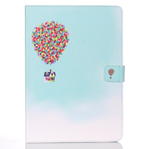Patterned Wallet Smart Leather Stand Cover for iPad Air - Flying House