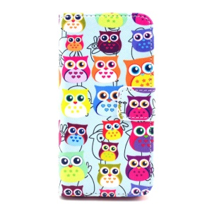 Flip Leather Protective Shell for iPhone 5c - Multiple Owls