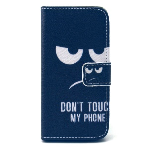 Flip Leather Protective Case for iPhone 5c - Angry Face and Quote