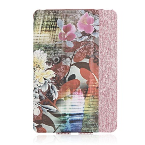 High-end Tri-fold Stand Smart Leather Case for iPad Air - Elegant Flowers