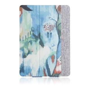 High-end Tri-fold Stand Smart Leather Shell for iPad Air - Artistic Painting