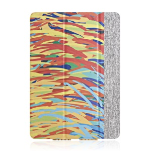 High-end Tri-fold Stand Smart Leather Cover for iPad Air - Color Graffiti