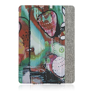 High-end Tri-fold Stand Smart Leather Cover for iPad Air - Nature Theme Painting
