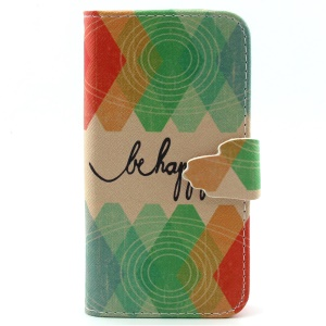 Wallet Leather Stand Phone Case for iPhone 5s 5 - Quoted with Be Happy