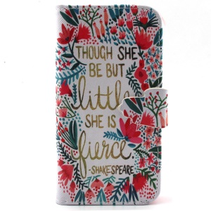 Magnetic Flip Wallet Leather Stand Cover for iPhone 5s 5 - Though She Be But Little, She Is Fierce
