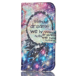 Wallet Leather Protective Shell Stand Cover for iPhone 5s 5 - Without Dreams We Have Nothing