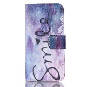 Magnetic Flip Wallet Leather Protective Case for iPhone 5s 5 - Sky and Smile