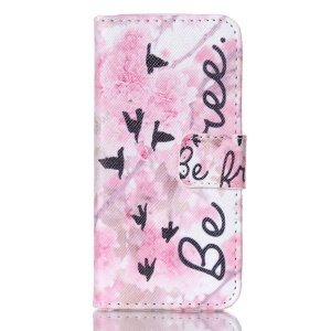 Geese Pattern Magnetic Wallet Leather Gel Shell for iPhone 5s 5