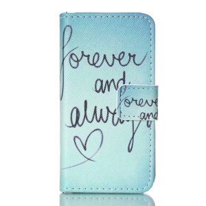 Magnetic Leather Stand Phone Case for iPhone 4S - Forever and Always