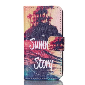 Dual-sided Magnetic Leather Phone Case for iPhone 4S - Every Summer Has A Story