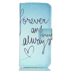 Magnetic Leather Stand Phone Case for iPhone 5c - Forever and Always