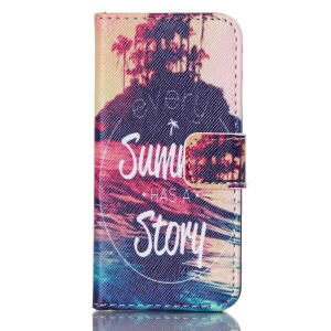 Dual-sided Magnetic Leather Cover Case for iPhone 5c - Every Summer Has A Story