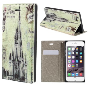 PU Leather Stand Shell for iPhone 6 4.7 inch - Castle