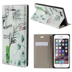 PU Leather Phone Case for iPhone 6 4.7 inch - Plant in the Bottle