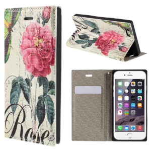 PU Leather Stand Shell for iPhone 6 4.7 inch - Blooming Flower