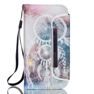Detachable Wallet Leather Phone Cover for iPhone 5 5s - Dream Catcher