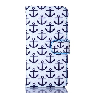 For iPhone 5s 5 Flip Stand Wallet Leather Cover Shell - Anchors
