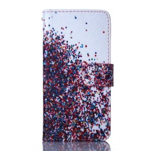 For iPhone 5s 5 Magnetic Card Holder Leather Phone Cover - Colorful Balloons
