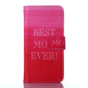 Dairy Style Wallet Stand Faux Leather Cover Shell for iPhone 5s 5 - Best Mom Ever