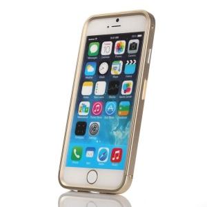 Slide-on Aluminium Alloy Metal Frame Case for iPhone 6 - Champagne