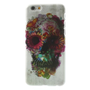 Colorized Flower Skull Head Hard Plastic Case for iPhone 6 4.7 inch