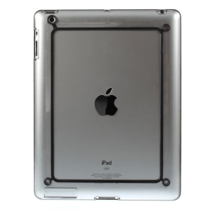 Wide Edge Plastic & TPU Hybrid Bumper for iPad 2 3 4 - Black