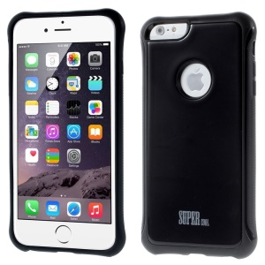 Super Cool Plastic & TPU Shield Case for iPhone 6 4.7 inch - Black