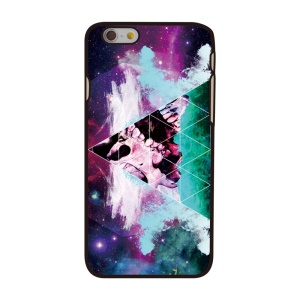For iPhone 6 4.7-inch Protective Hard Case Cover - Triangle Nebula & Skull