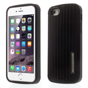 iFace Mall TPU & PC Fashion Luggage Travel Case for iPhone 5 5s - Black