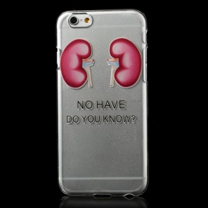 Cartoon Kidneys Pattern Clear Hard PC Case for iPhone 6
