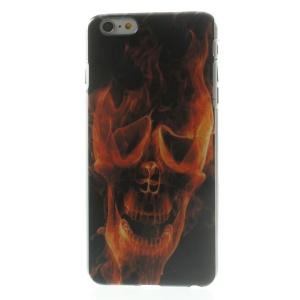 Hard Plastic Back Case for iPhone 6 Plus - Burning Skull