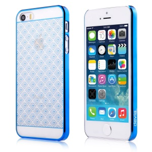 Devia Glimmer Exquisite Brocade Electroplated Hard PC Shell for iPhone 5s / 5 - Blue