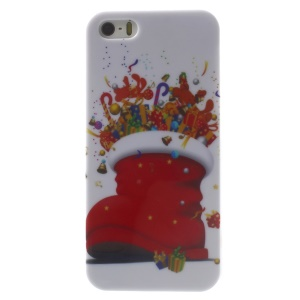 Christmas Boot & Gifts Pattern Glossy Hard Plastic Case for iPhone 5s 5