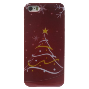 Christmas Snowflake & Star Pattern Glossy Hard Plastic Cover for iPhone 5s 5