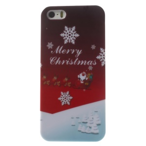 Christmas Snowflakes Pattern Glossy Hard Plastic Shell for iPhone 5s 5
