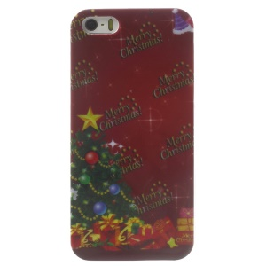 Christmas Tree & Merry Christmas Glossy Hard Plastic Shell for iPhone 5s 5
