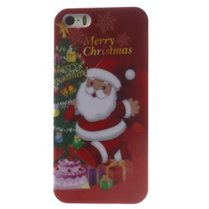 Santa Claus & Gifts Pattern Glossy Hard Plastic Phone Cover for iPhone 5s 5