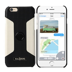 KLD Drive Series for iPhone 6 4.7-inch Hard Cover Car Stand Holder - White / Black